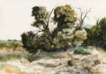 Works on Paper, Stuart Gentling (American, 1942-2006). River Delta. Watercolor on paper. 13-1/2 x 19-1/4 inches (34.3 x 48.9 cm) (sight)...