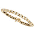 Estate Jewelry:Bracelets, Diamond, Gold Bracelet . . ...