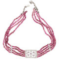 Estate Jewelry:Necklaces, Pink Tourmaline, Diamond, White Gold Necklace. ...