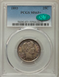 Barber Quarters, 1893 25C MS65+ PCGS. CAC....