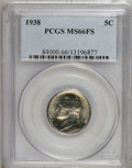 Jefferson Nickels: , 1938 5C MS66 Full Steps PCGS. . PCGS Population (118/6). NGCCensus: (10/3). (#84000)...