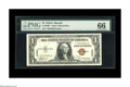 Small Size:World War II Emergency Notes, Fr. 2300* $1 1935A Hawaii Silver Certificate. PMG Gem Uncirculated66.. A nicely centered star example in a PMG Gem Uncircul...