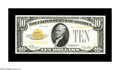 Small Size:Gold Certificates, Fr. 2400 $10 1928 Gold Certificate. Gem Crisp Uncirculated.. A perfectly centered note with great color and full original em...