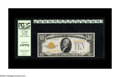 Small Size:Gold Certificates, Fr. 2400 $10 1928 Gold Certificate. PCGS Choice New 63PPQ.. It is difficult to discern through the encapsulation surfaces wh...