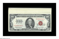 Small Size:Group Lots, Fr. 1550 $100 1966 Legal Tender Note. XF-AU. Fr. 2032-H* $10 1995 Federal Reserve Notes. Twelve Consecutive Examples. Gem ... (Total: 13 notes)