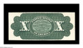 Large Size:Demand Notes, Fr. 94-95b Hessler UNL $10 1863 Legal Tender Back Proof Gem New.This back proof was printed on card stock and then attached...