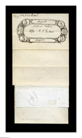 Large Size:Demand Notes, National Bank Note Design. This lot was last offered in the LynKnight March 2001 auction. It consists of a one page drawing...(Total: 4 items)