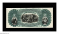 Large Size:Demand Notes, Fr. 387-93 Hessler UNL $2 National Bank Note Back Proof Gem New.Lovely blue-green ink frames the wonderful 3-D appearing vi...