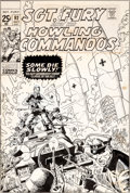 Original Comic Art:Covers, Herb Trimpe Sgt. Fury and His Howling Commandos #92 CoverOriginal Art (Marvel, 1971)....