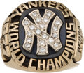 Baseball Collectibles:Others, 1977 New York Yankees World Series Championship Ring Presented toYogi Berra....