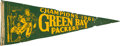 Football Collectibles:Others, 1961 Green Bay Packers NFL Champions Pennant. ...