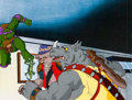 Animation Art:Production Cel, Teenage Mutant Ninja Turtles Production Cel Setup(Murakami-Wolf-Swenson, 1987).. ...
