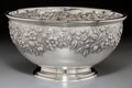 Silver Holloware, American:Punch Bowls, An S. Kirk & Son Silver Repoussé Punch Bowl, Baltimore,Maryland, circa 1932-1979. Marks: S. KIRK & SON, STERLING,230F...