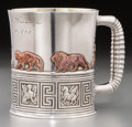 Silver Holloware, American:Cups, A Gorham Silver and Mixed Metal Child's Cup, Providence, RhodeIsland, circa 1881. Marks: (lion-anchor-G), STERLING, 848,...