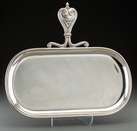 A Buccellati Silver Butler's Tray, Milan, Italy, 20th century Marks: BUCCELLATI, STERLING, ITALY, (star