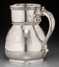 Silver Holloware, American:Pitchers, A Tiffany & Co. Silver Pitcher, New York, circa 1870. Marks:TIFFANY & CO, QUALITY 925-1000, UNION SQUARE, (GothicM), ...