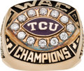 Football Collectibles:Others, 1999 TCU Horned Frogs WAC Championship Ring....