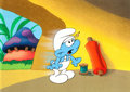 Animation Art:Production Cel, The Smurfs Handy Smurf Production Cel (Hanna-Barbera, c.1980s)....