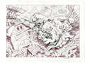 Original Comic Art:Splash Pages, Bruce Zick Atlas #2 Double Splash Pages Original Art (DarkHorse, 1994). ...