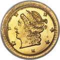 California Fractional Gold , 1870 25C Liberty Round 25 Cents, BG-808, R.3, MS67 PCGS....