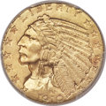 Indian Half Eagles, 1910 $5 MS64+ PCGS. CAC....