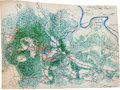 Miscellaneous:Maps, Manuscript Map of the Battle of Chancellorsville Showing Positionson Sunday, May 3, 1863....