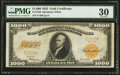 Large Size:Gold Certificates, Fr. 1220 $1,000 1922 Gold Certificate PMG Very Fine 30.. ...