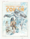 Original Comic Art:Miscellaneous, Earl Norem Savage Sword of Conan #78 Cover PreliminaryArtwork Original Art (Marvel, 1982)....