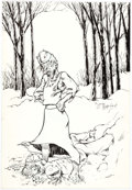 Original Comic Art:Covers, William Messner-Loebs Journey #17 Cover Original Art(Fantagraphics, 1985)....