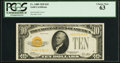 Small Size:Gold Certificates, Fr. 2400 $10 1928 Gold Certificate. PCGS Choice New 63.. ...