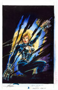 Original Comic Art:Covers, Mike Grell Maggie the Cat #1 Cover Color Guide ProductionArt (Image, 1996)....