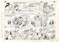 Original Comic Art:Comic Strip Art, Clifford McBride Napoleon Sunday Comic Strip Original Art(c. 1950s)....