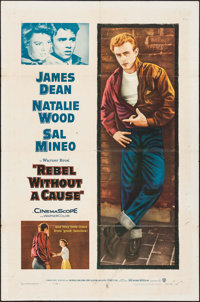 "Rebel without a Cause (Warner Brothers, R-1957). One Sheet (27"" X 41""). Drama"