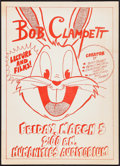 "Movie Posters:Animation, Bob Clampett Lecture (1976). College Poster (11"" X 15"").Animation.. ..."