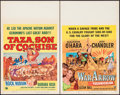 "Movie Posters:Western, Taza, Son of Cochise & Other Lot (Universal International, 1954). Window Cards (2) (14"" X 22""). Western.. ... (Total: 2 Items)"
