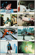"Movie Posters:Action, Superman the Movie (Warner Brothers, 1978). Mini Lobby Card Set of8 & Deluxe Mini Lobby Card Set of 8 (8"" X 10""). Action.. ...(Total: 16 Items)"
