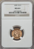 Liberty Quarter Eagles, 1878 $2 1/2 MS64+ NGC....