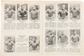 """Football Collectibles:Publications, 1935 Green Bay Packers Eight Page """"Wadham's"""" Promotional Publication. . ..."""