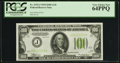 Small Size:Federal Reserve Notes, Fr. 2152-J $100 1934 Light Green Seal Federal Reserve Note. PCGS Very Choice New 64PPQ.. ...