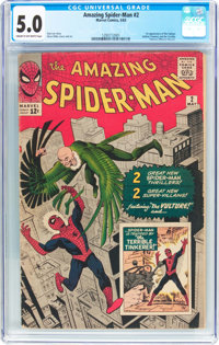 The Amazing Spider-Man #2 (Marvel, 1963) CGC VG/FN 5.0 Cream to off-white pages