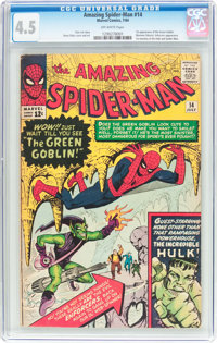 The Amazing Spider-Man #14 (Marvel, 1964) CGC VG+ 4.5 Off-white pages