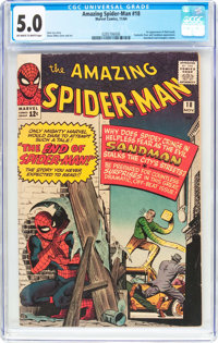 The Amazing Spider-Man #18 (Marvel, 1964) CGC VG/FN 5.0 Off-white to white pages
