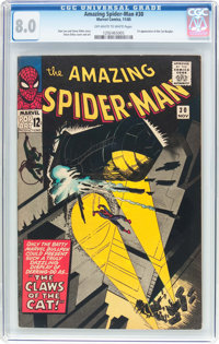 The Amazing Spider-Man #30 (Marvel, 1965) CGC VF 8.0 Off-white to white pages
