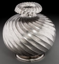 Silver Holloware, Continental, A Mario Buccellati Silver Vase, Milan, Italy, 20th century. Marks:M. BUCCELLATI, ITALY, STERLING. 10-1/4 inches high (2...