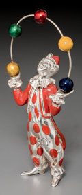 Silver Smalls, A Tiffany & Co. Silver and Enamel Juggling Circus Clown,Designed by Gene Moore, New York, circa 1990. Marks: TIFFANY& CO...