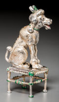 Silver Smalls, A Tiffany & Co. Silver and Enamel Circus Poodle with Stool,Designed by Gene Moore, New York, circa 1990. Marks: TIFFANY&... (Total: 2 Items)