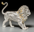 Silver Smalls, A Tiffany & Co. Silver and Enamel Circus Lion, Designed by GeneMoore, New York, circa 1990. Marks: TIFFANY & CO.,STERLIN...