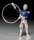 Silver Smalls, A Tiffany & Co. Silver and Enamel Circus Animal Trainer,Designed by Gene Moore, New York, circa 1990. Marks: TIFFANY& CO...