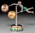 Silver Smalls, A Two-Part Tiffany & Co. Silver and Enamel Male CircusBalancing Acrobat, Designed by Gene Moore, New York, circa 1990.Mark... (Total: 2 Items)