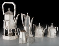 Silver & Vertu:Hollowware, A Six-Piece Barbour Silver Co. Sterling Tea and Coffee Service, Hartford, Connecticut, early 20th century. Marks: (crown-ham... (Total: 6 Items)